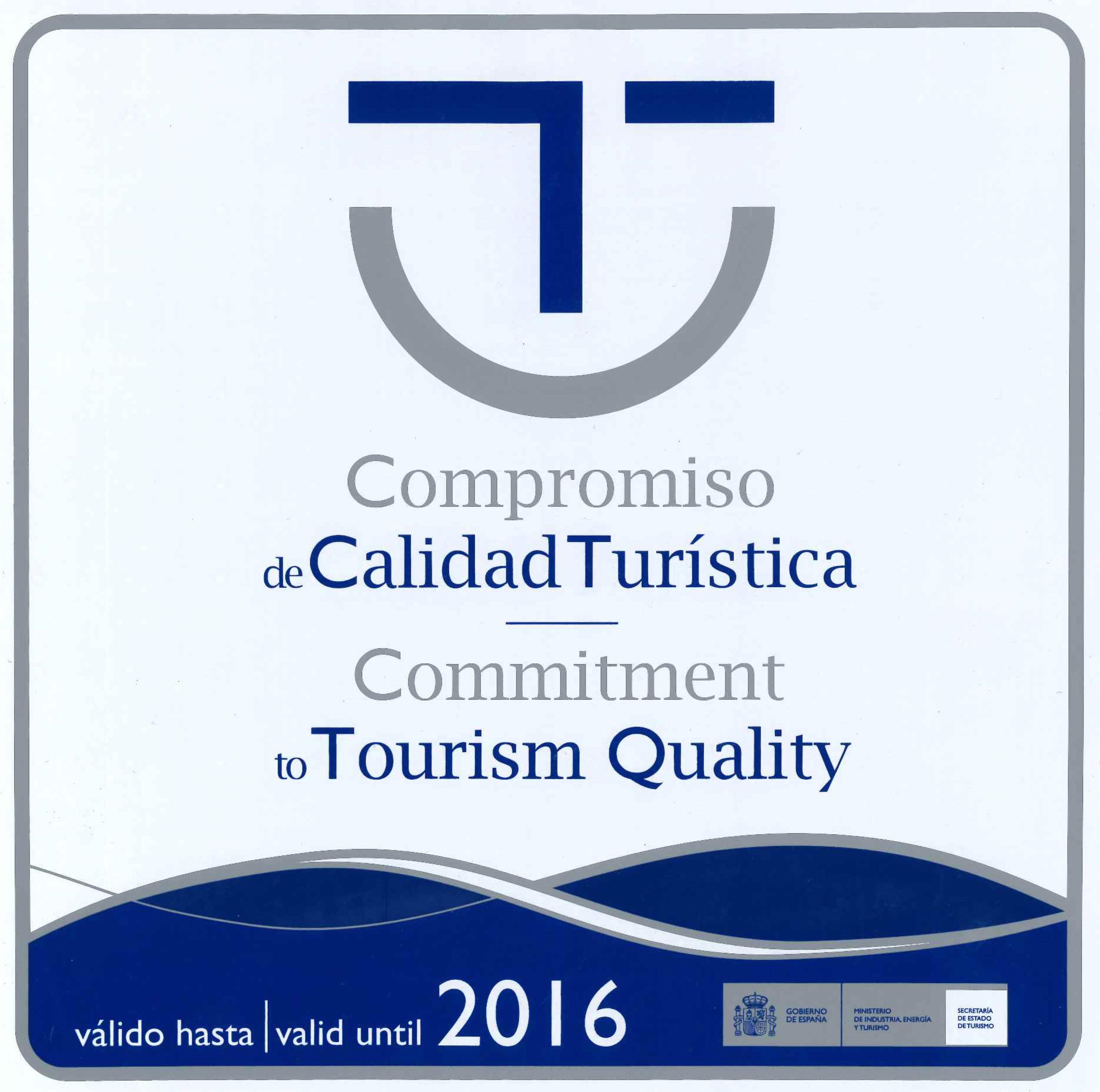 Distintivo de compromiso de calidad turística concedido al Museo