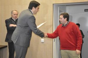 José Manuel Macías Castro con el Presidente de la Comisión Ejecutiva Bernardino Píriz