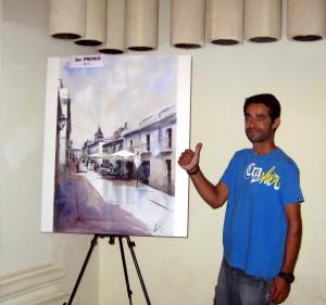 El placentino Gustavo Hernández Puertas, Tercer Premio