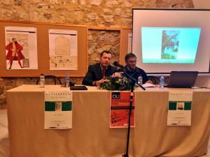 Un momento de la conferencia en el que aparecen Eduardo Naharro-Macías Machado presenta a D. José Levy Domingos (Fotografía de D. José Ribeiro e Castro)