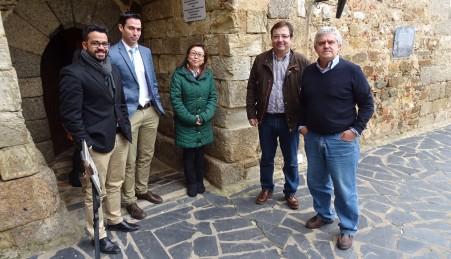 Alcalde de Olivenza, Tomás Sánchez y Guillermo Fdez. Vara