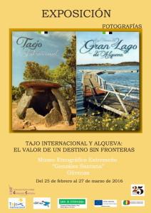 Cartel exposición Tajo Internacional y Alqueva