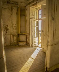 Interior del Forte da Graça en Elvas, antes de su restauración