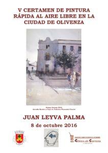 Cartel V Certamen Pintura de pintura rápida al aire libre Juan Leyva Palma