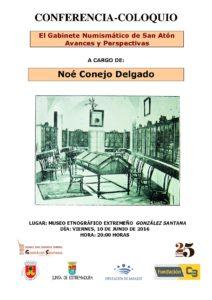 """Museo Etnográfico. """"González Santana"""". Olivenza. Extremadura. Conferencia-coloquio. El Gabinete numismático de San Atón"""