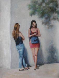 """Museo Etnográfico """"González Santana"""". Olivenza. Extremadura. Exposición. Pintura. Sacramento García Buzo. Un Paseo por la Calle."""