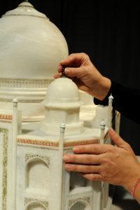 El Taj Mahal, una de las espectaculares maquetas de la exposición