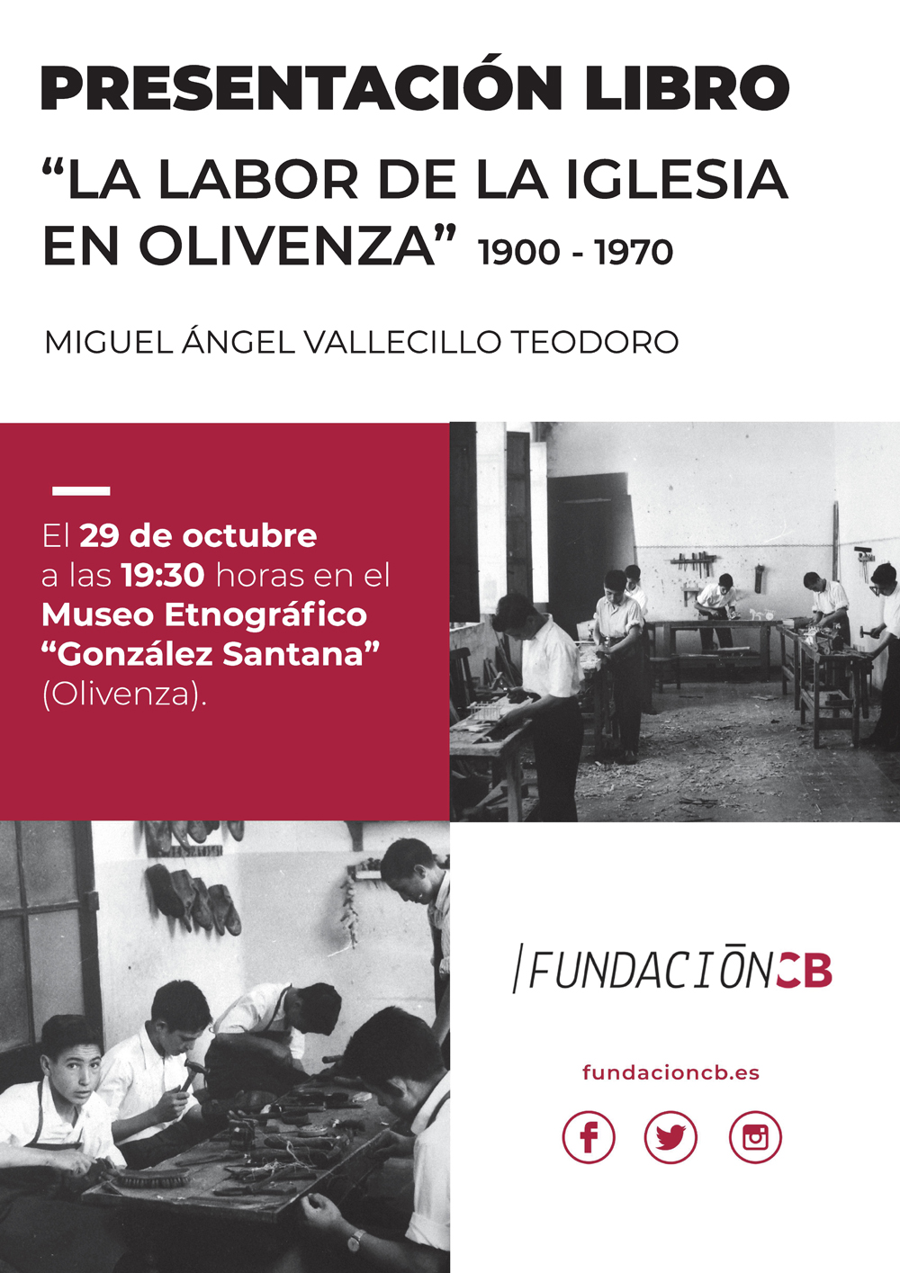 """Museo Etnográfico """"González Santana"""". Olivenza. Presentación libro. Miguel A. Vallecillo Teodoro"""